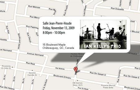 Ian Kelly map Chateauguay, QC