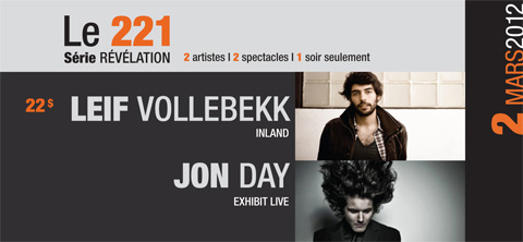 Jon Day Trio with Leif Vollebekk